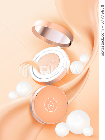化妝粉墊海報模板圖矢量 67779658