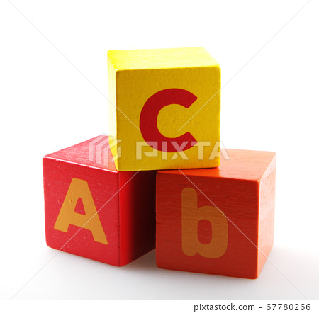 Wooden alphabet blocks isolated on white 67780266