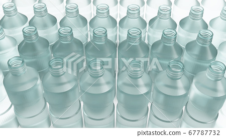 plastic bottle for recycled content 3d rendering. 67787732