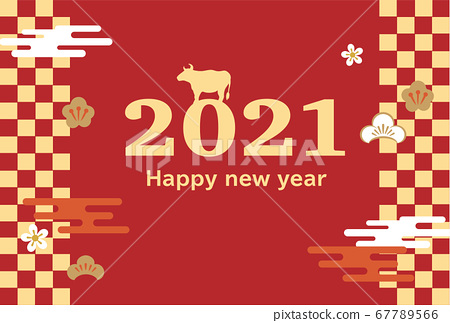 2021 ox year New Year's card 67789566