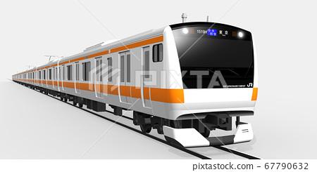 中央線3DCG(中央快速列車東京的右側) 67790632