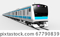 Keihin Tohoku Line 3DCG (Rapid bound for Omiya, right side) 67790839