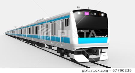 京濱東北線3DCG(大宮快速開往右側) 67790839