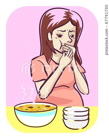 Pregnant Food Taste Smell Different Illustration 67791780