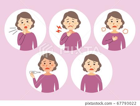 중년 여성 아프다 1 신종 코로나 바이러스 증상 67793022
