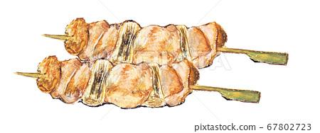 插图烤鸡肉串 67802723