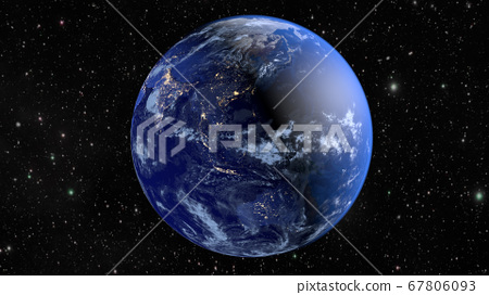 Planet Earth. The radiance of the cities of 67806093