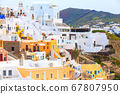 Oia Village in Santorini Island in Greece 67807950