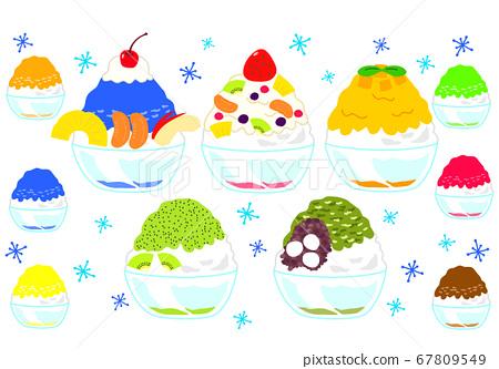 很多水果刨冰 67809549