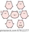 Pig variation set 67812277