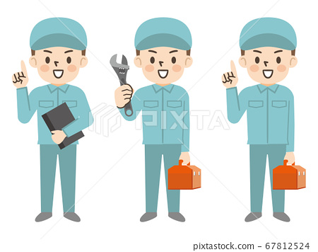 套工人男人的插图 67812524