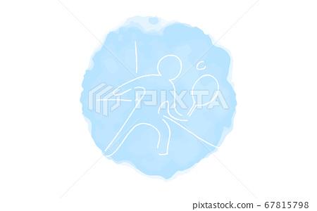 模擬手寫風格的鬆動觸摸圖標:壁球 67815798