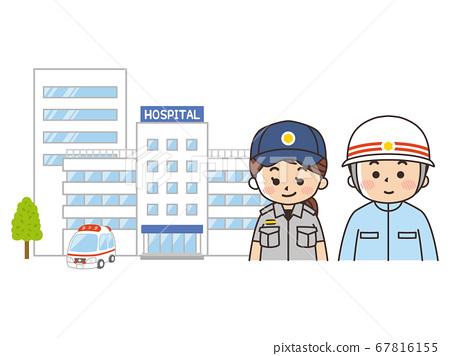 綜合醫院,救護車和護理人員 67816155