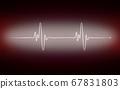 Heart cardiogram pulse chart on electrocardiogram 67831803