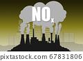 Environmental concept of nitrogen oxides or NOx 67831806