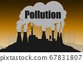 Environmental concept of air pollution 67831807