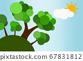 Eco friendly concept with trees 67831812