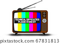 Retro television with technical difficulties 67831813