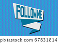 Ribbon banner with Follow me word 67831814