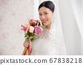 웨딩 드레스를 입은 여성의 초상화 67838218