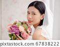 웨딩 드레스를 입은 여성의 초상화 67838222