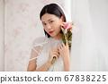 웨딩 드레스를 입은 여성의 초상화 67838225