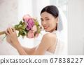 웨딩 드레스를 입은 여성의 초상화 67838227