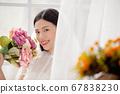 웨딩 드레스를 입은 여성의 초상화 67838230