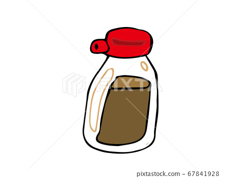 Illustration of soy sauce 67841928