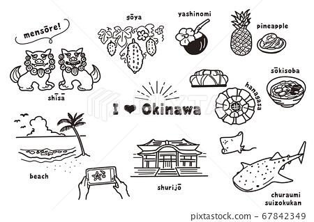 Hand drawn Okinawa illustration 67842349