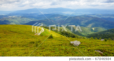 travel carpathian mountains in summer. road 67846984