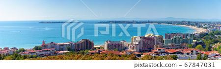 panorama of the sunny beach bay. popular 67847031