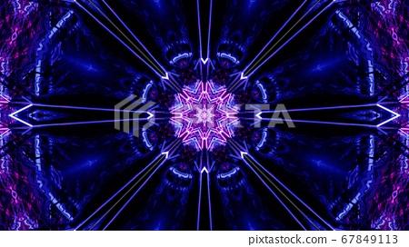 Unique Dream Geometric Symbol 3d illustration on Dark background 67849113