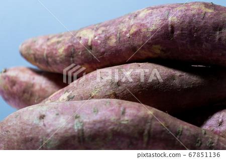 raw fresh skin of potato under the light. 67851136