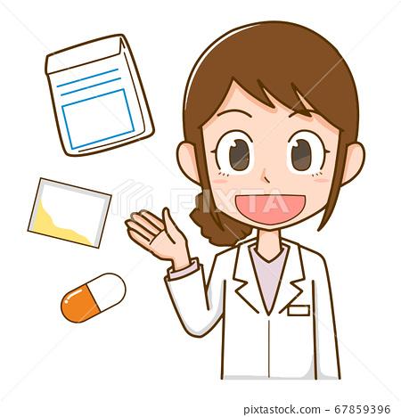 白大褂開藥的女人 67859396
