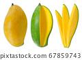 Sweet Mango fruit isolated on white background 67859743