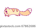 vector cute little cat clipart 67862686