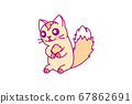 vector cute little cat clipart 67862691