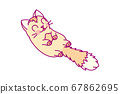 vector cute little cat clipart 67862695