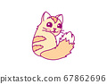 vector cute little cat clipart 67862696