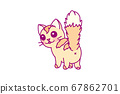 vector cute little cat clipart 67862701