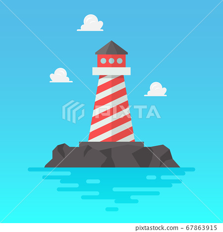 Lighthouse in flat style 67863915
