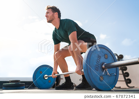Weightlifting fitness man bodybuilding 67872341