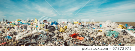 Waste dump concept, Pile of garbage, garbage dump , waste from household in waste landfill, plastic world 67872973