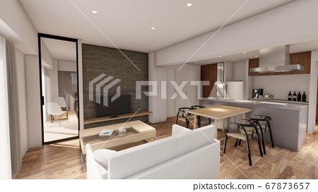 아파트 거실 67873657