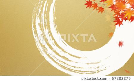 金色背景與日式秋天 67882879