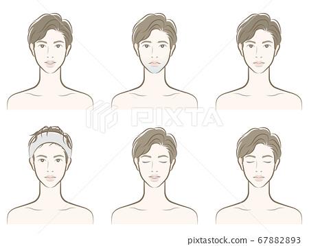 男性面部表情的插圖 67882893