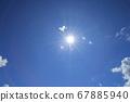 雨和太陽後的藍天夏季七月復制空間 67885940