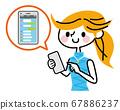 智能手机SNS女 67886237
