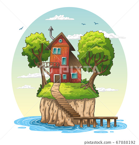 Red House On An Island. 67888192